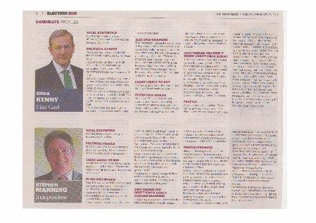 Enda Kenny and Stephen Manning comparison