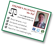 Independent candidate Stephen 'the Ref' Manning